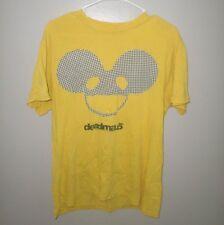 DEADMAU5 yellow med T shirt house music tee DJ electronic dance Joel Zimmerman