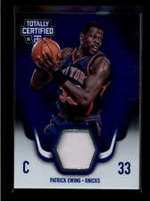PATRICK EWING 2015/16 15/16 PANINI TOTALLY CERTIFIED BLUE JERSEY #60/99 AB7849