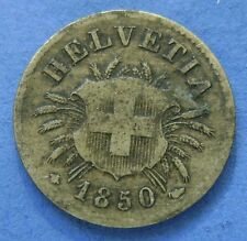 1850 Zwitserland Switzerland - 5 Rappen 1850 BB Strasbourg -  KM# 5