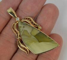 Agate Yellow Gold Pendant/Locket Victorian Fine Jewellery