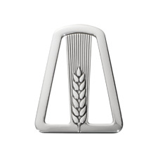 Georg Jensen Denmark Sterling Silver Money Clip 334 Wheat Motif - New