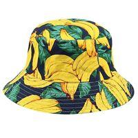 Bucket Hat Chapeau de Seau à Fruits RéVersible sur les CôTéS pour Hommes Fe M5V5
