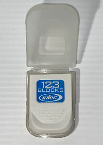 Intec 123 Blocks 8Mb White Memory Card Nintendo GameCube Wii Tested Excellent