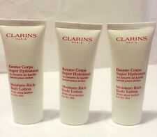 Clarins Moisture-Rich Body Lotion With Shea Butter New 90ml 3oz Free Shipping