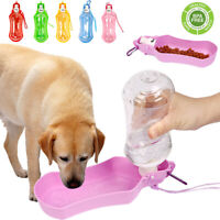 Portable Dog Water Bottle for Puppy Foldable Outdoor Travel Drinking Bowl Feeder