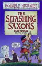 The Smashing Saxons by Terry Deary Horrible Histories illustrated used paperback