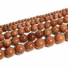 30PCS 6MM Gold Sandstone Loose Bead Bead Making Accessories