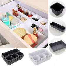 8x Plastic Drawer Desk Draw Storage Tray Office/Home Kitchen Organizer Box