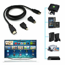 0.5M 3 in 1 HDMI to Mini HDMI + Micro HDMI V1.4 Adapter Converter Cable 1080P