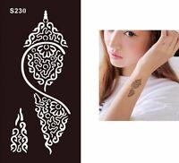 Henna Lace Festival Temporary Tattoo Henna Arm Hand Stencils Template