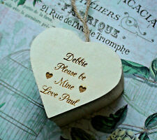 Engraved Wooden Ring Box - Personalised laser etched keepsake - Love HEART GIFT
