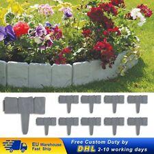 Bordures de Clôture enfichable en plastique, pour jardin et piste et passage