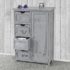Kommode Schrank, Vintage, Shabby-Look grau, 82x55x30cm