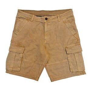 Ex Brand  Mens Cargo Shorts 100% Cotton Combat Knee Length Chino Pants 7 Pockets