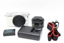 Canon EOS M100 24.2MP CMOS Full HD Mirrorless Digital Camer 22mm Lens-White