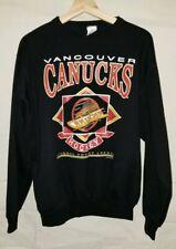 Vancouver Canucks Black Pullover Sweater Men's Large Waves Brand NHL Hockey 1993