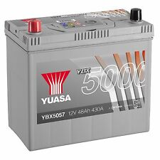 Yuasa YBX5057 12V Silver 057 Series Car Battery 48Ah 430A