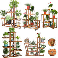 7 Design Wood Plant Stand Multi-layer Pot Plant Shelf Garden Planter Flower Rack