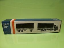 LION CAR 74 64 DAF TRUCKS 2800-3300 TRAILER - 1:50 GOOD * ONLY EMPTY BOX * (36)