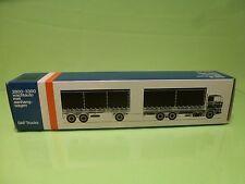 LION CAR 74 64 DAF TRUCKS 2800-3300 TRAILER - 1:50 GOOD * ONLY EMPTY BOX * (36)