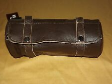 """10"""" LONG XELEMENT MOTORCYCLE BROWN LEATHER TOOL BAG STYLE 1509 UNUSED  NEW"""