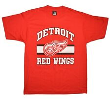 Red Wings 1988 Vintage Tee Size LARGE Red Screen Stars Best 50/50 TRENCH NHL
