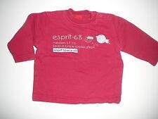 Esprit tolles Sweatshirt Gr. 74 rot mit Raketenmotiv !!