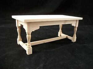 Table - Kitchen Work - dollhouse miniature 1/12 scale furniture unfinished T4295