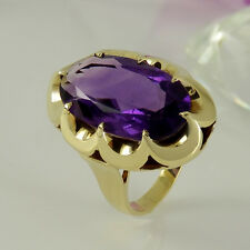 Ring in 585/- Gelbgold mit 1 Amethyst - Größe 53