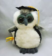 "Passport Plush Toys, 9"" Graduation Owl, Plush stuffed animal, bird, Wire glasses"