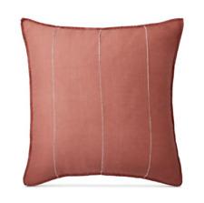 $135 Ralph Lauren Home Cayden Rustic European Euro Pillow Sham Coral Linen NIP