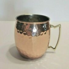 Moscow Mule Mug Genuine Copper Drink Cup with Handle, Hammered Finish