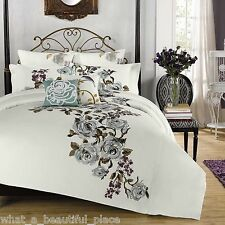 Anthology Lalo Twin XL Comforter Set Girl's Dorm Bed Shabby Chic Floral Bouquet