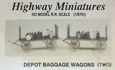 JORDAN HIGHWAY MINIATURES DEPOT BAGGAGE WAGONS (2)
