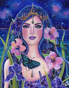 Gaia mother earth print fantasy art By Renee  Lavoie made in USA