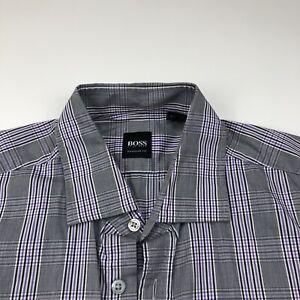 Hugo Boss Regular Fit Large 16.5/35 Mens Button Front Long Sleeve Dress Shirt