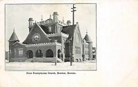Kansas Ks Postcard c1910 NEWTON First Presbyterian Church
