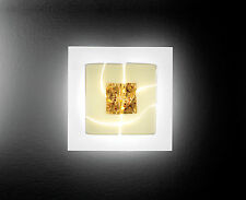 Leucos Laguna p35 delta lampada da parete in vetro di Murano