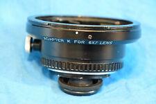 Asahi Pentax K adapter for 6X7 lens