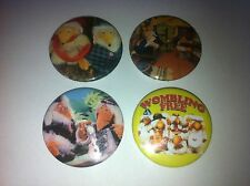 4 The Wombles of Wimbledon button badges 25mm cult retro 80s 90s kids TV UK USA
