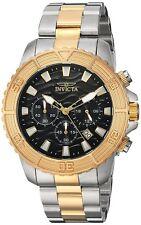 Invicta 24003 Men's Pro Diver Chronograph 45.5mm Black Dial Watch