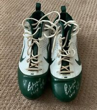 Yoenis Cespedes GAME USED 2014 CLEATS signed WORN autograph A's Mets
