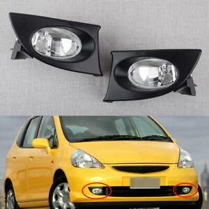 1pair Front Bumper Fog Light Lamp Fit for Honda Fit/Jazz GD1 GD3 2003-2008 top