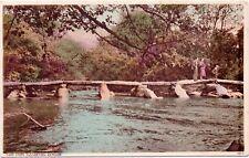 Postcard TARR Steps Dulverton Exmoor Harvey Barton Postmark 1939 Miss J M Reed