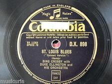 "78rpm 12"" DUKE ELLINGTON st louis blues w bing crosby / creole love call DX 898"