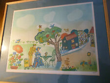Pop Art Style Lithograph - Artist Signed - Mary Poppins/esque - Framed/Numbered
