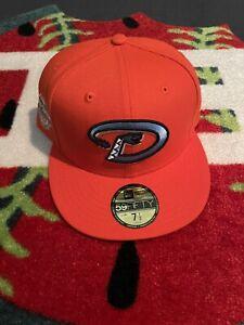 *Hatclub* Frozen Tangerine Arizona Diamondbacks W/ 2001 WS Patch Sz 7 1/2