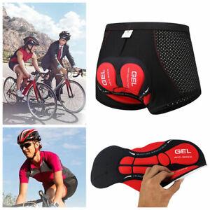 Fahrradhose Herren/Damen Radhose 5D Gel Sitzpolster Unterhose Radfahren Short DE