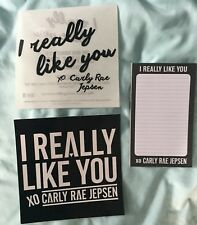 Carly Rae Jepsen official promotional notepad + 2 stickers I really Like you