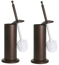 Home Intuition Toilet Cleaning Brush & Holder Set Bronze, 2 Pack